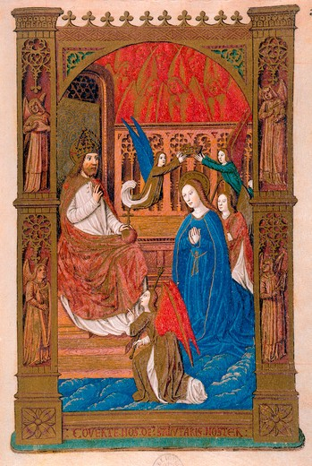 Coronation of Mary / Illumin. / 1483/98 : Stock Photo