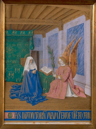 Stock Photo: 463-283215 J.Fouquet, Annunciation to Mary/ Illum.
