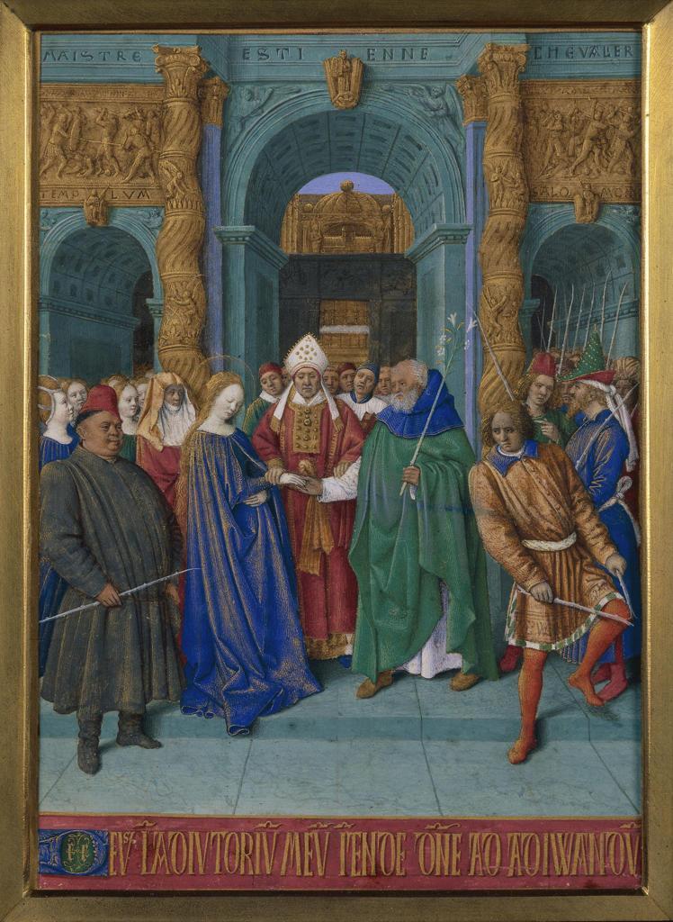 Stock Photo: 463-283236 J.Fouquet, Mary's marriage/ Illumination