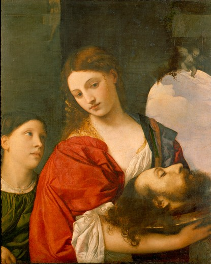 Stock Photo: 463-283260 Titian / Salome with John Baptist's Head
