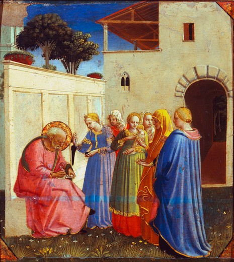 Fra Angelico / Naming of John th.Baptist : Stock Photo