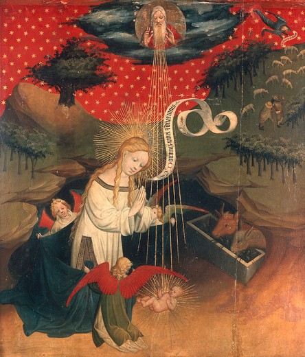 Master Francke / Birth of Christ /c.1424 : Stock Photo