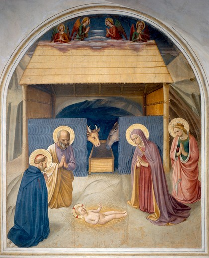 Stock Photo: 463-283290 Fra Angelico / Birth of Christ / c.1437