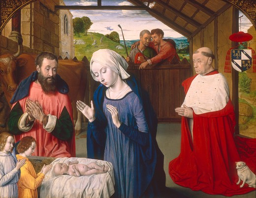 The Nativity / Master of Moulins/ c.1480 : Stock Photo
