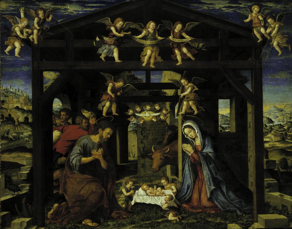 Gerolamo da Santacroce / Adoration : Stock Photo