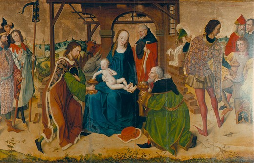 Stock Photo: 463-283372 Master Life of Mary / Adoration of Kings