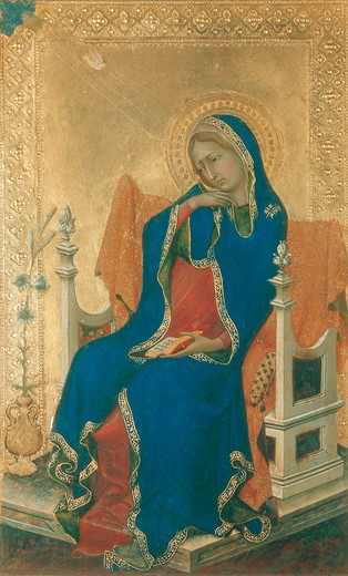 Stock Photo: 463-283416 Simone Martini / The Annunciation