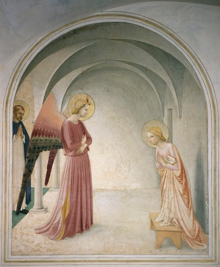 Stock Photo: 463-283425 Fra Angelico / Annunciation to Mary