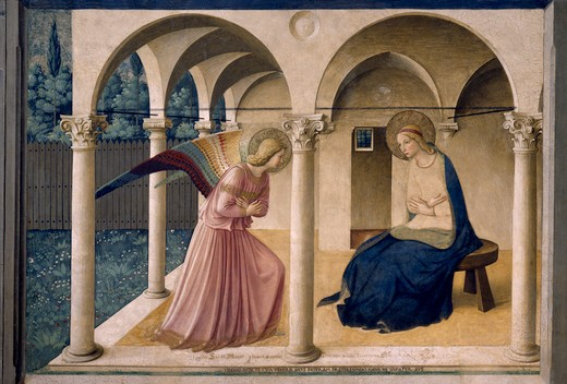 Stock Photo: 463-283426 Annunciation to Mary / Fra Angelico
