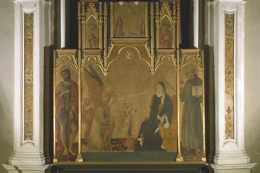 Giovanni di Paolo / Annunciation : Stock Photo
