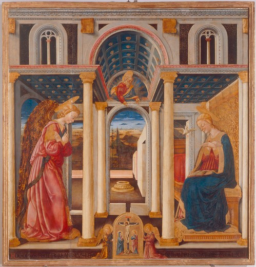 Annunciation to Mary / Neri di Bicci : Stock Photo