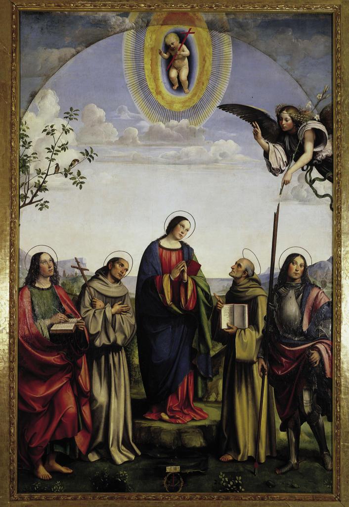 Stock Photo: 463-283440 Francesco Francia / Annunciation