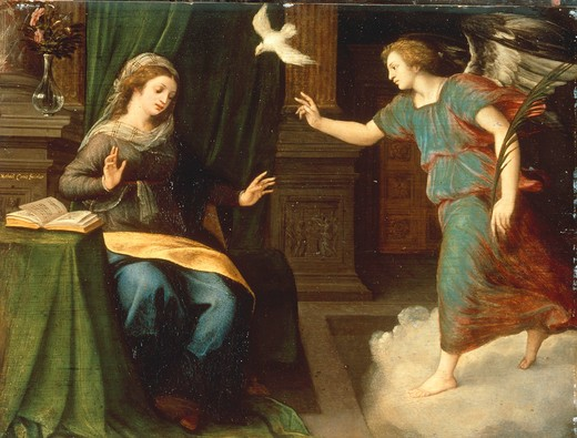 Stock Photo: 463-283443 M.Coxie / Annunciation to Mary / C16th