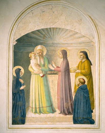 Stock Photo: 463-283458 Fra Angelico /Present.in th.Temple/ C15