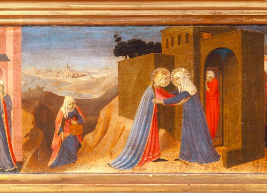 Stock Photo: 463-283472 Fra Angelico / Visitation / c. 1432/33