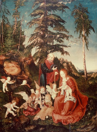 Stock Photo: 463-283480 L.Cranach t.E / Flight into Egypt / 1504