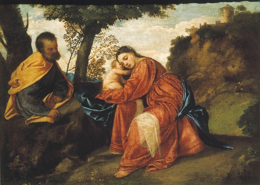 Stock Photo: 463-283481 Titian / Rest on the Flight into Egypt
