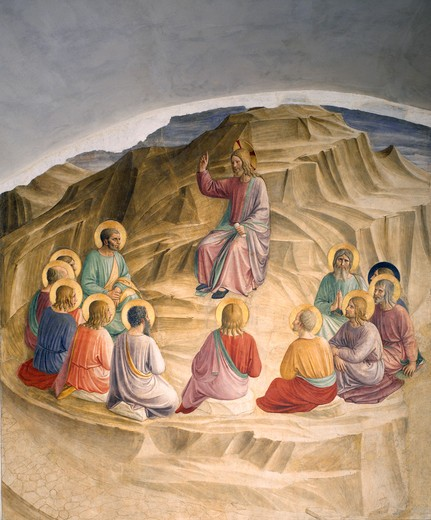 Stock Photo: 463-283528 Fra Angelico / Sermon on the Mount
