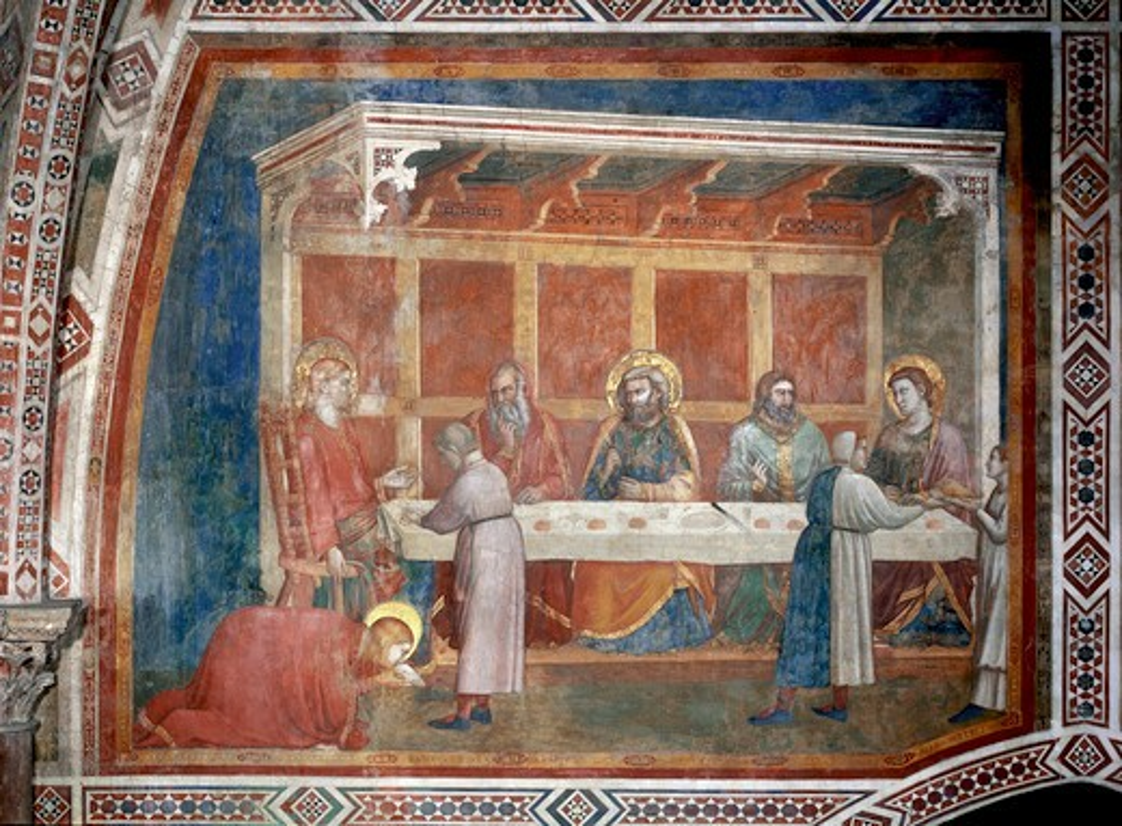 House of th.Pharisee / Fresco / c.1320 : Stock Photo