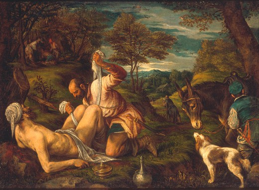 The Good Samaritan / Bassano / 1575/80 : Stock Photo
