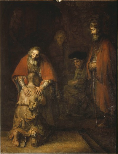 Return of the Prodigal Son / Rembrandt : Stock Photo
