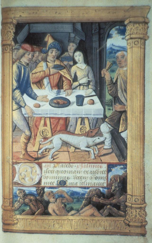 Poor Lazarus / Illumination c.1500 : Stock Photo