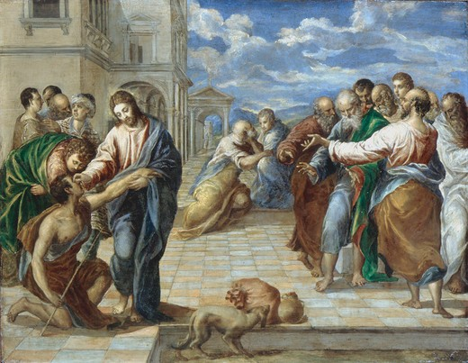 Stock Photo: 463-283599 El Greco / Christ healing the Blind
