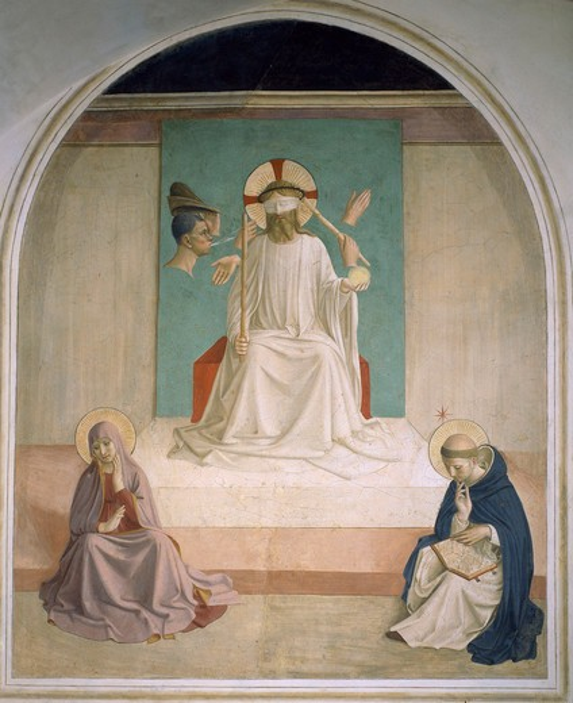 Fra Angelico / Mocking of Christ /Fresco : Stock Photo