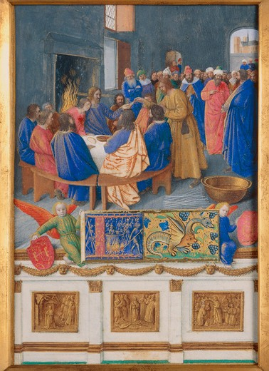 J. Fouquet, St. John at Communion : Stock Photo