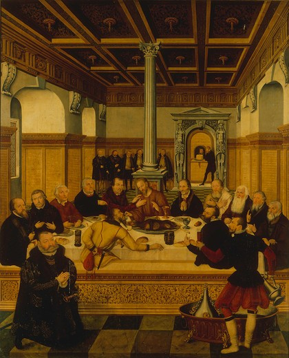 The Last Supper / Cranach the Younger : Stock Photo