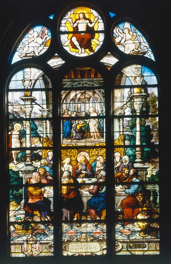 Stock Photo: 463-283655 Paris, St.Etienne-du-Mont, Last Supper