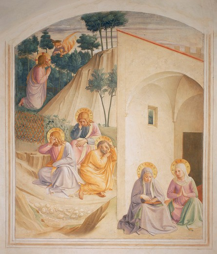 Stock Photo: 463-283657 Fra Angelico, Christ on Mt. of Olives