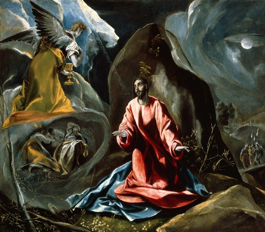 El Greco / Christ at Mt.of Olives : Stock Photo