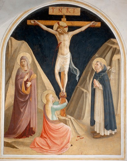 Stock Photo: 463-283741 Fra Angelico /Christ on the Cross/c.1437