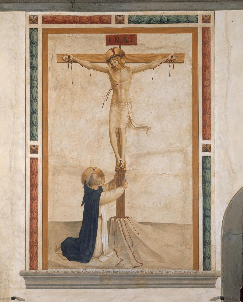 Stock Photo: 463-283744 Fra Angelico /St.Dominic bef.Cross/ C15