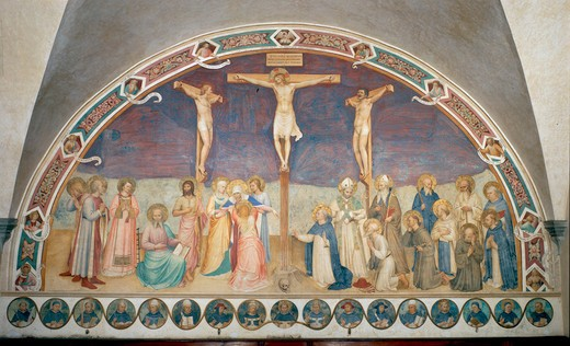 Stock Photo: 463-283746 Fra Angelico / Crucifixion / Fresco