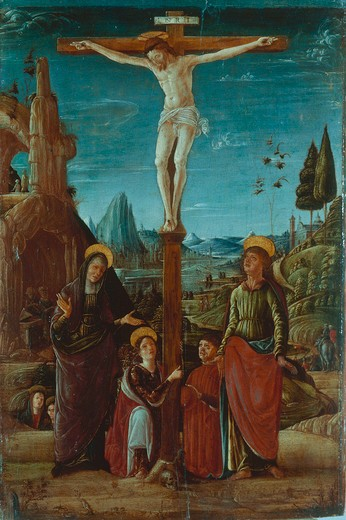 Crucifixion / Lorenzo Costa / 1480 : Stock Photo