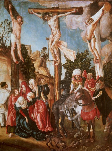 Stock Photo: 463-283759 L.Cranach t.E / Crucifixion / 1500/1
