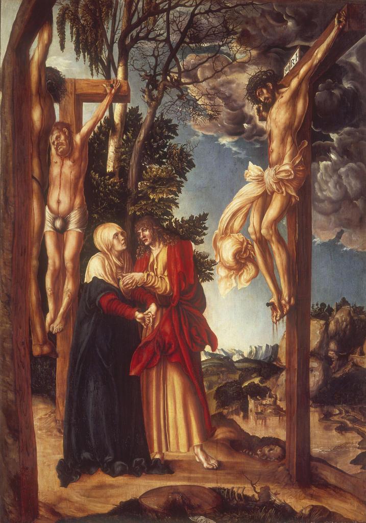 L.Cranach t.E/Lament beneath the Cross : Stock Photo
