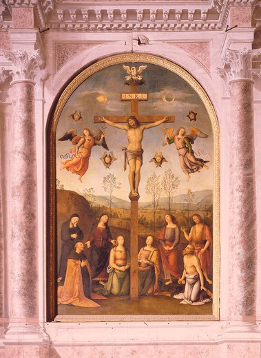 Stock Photo: 463-283763 Perugino / Crucifixion / ptg.