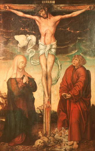 Stock Photo: 463-283764 L.Cranach t.E / Crucifixion