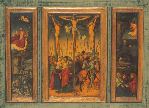 Stock Photo: 463-283766 L.Cranach t.E / Crucifixion Triptych
