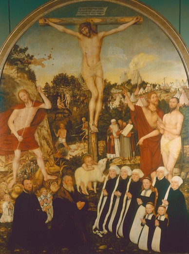 Stock Photo: 463-283767 Crucifixion of Christ / Cranach t.Y