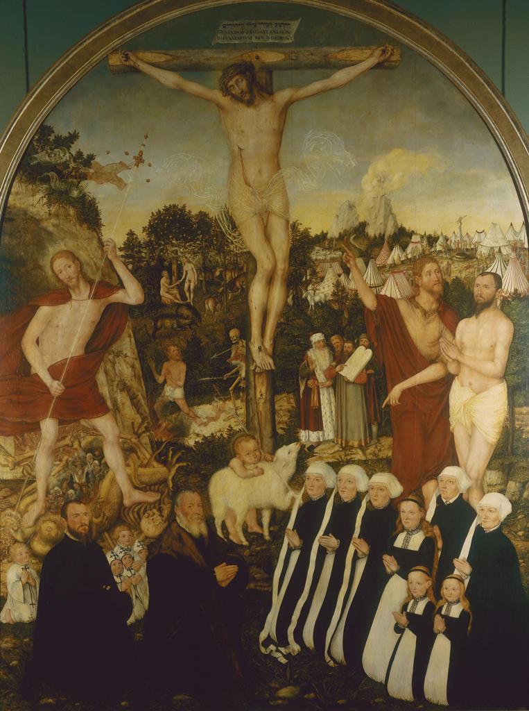 Crucifixion of Christ / Cranach t.Y : Stock Photo