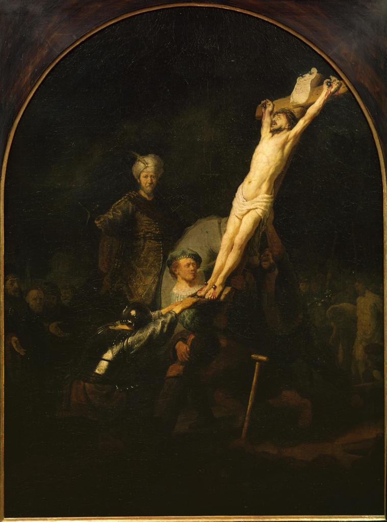 Stock Photo: 463-283775 Rembrandt, Die Kreuzaufrichtung -  -