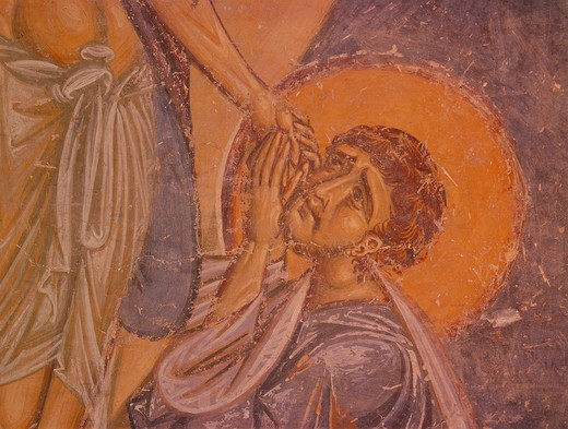 Lamentation of Christ / Mural / Nerezi : Stock Photo