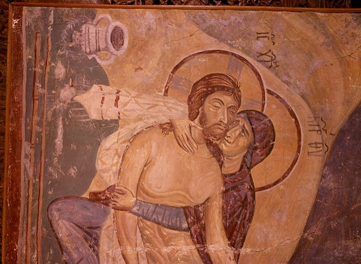 Stock Photo: 463-283804 Lamentation of Christ / Mural / Nerezi