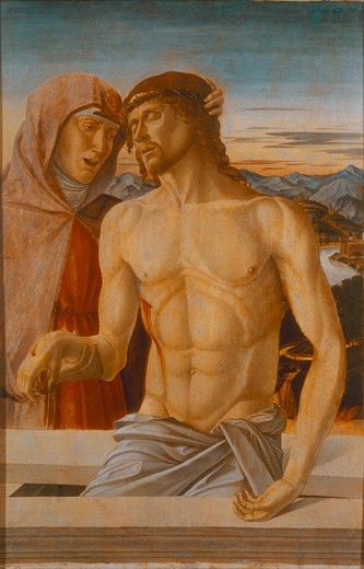 Bellini / Mary with the body of Christ : Stock Photo