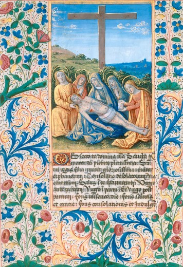 Stock Photo: 463-283821 Lamentation / Book illumination 1490