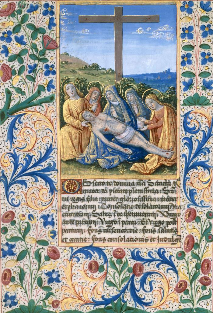 Lamentation / Book illumination 1490 : Stock Photo